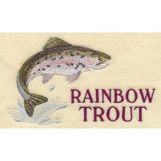 Embroidered Rainbow Trout A4331