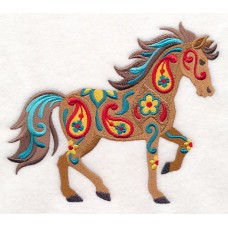 Embroidered Flower Power Horse M9149