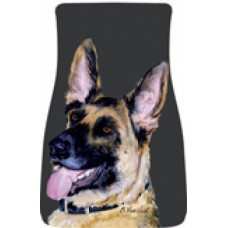 Car Floor Mat Pair (BVV)  - German Shepherd