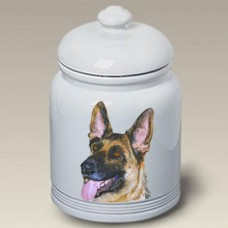 Ceramic Treat Jar (BVV) - German Shepherd 23003