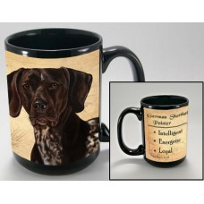 15 oz. Faithful Friends Mug - German Shorthaired Pointer