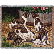Woven Throw - German Shorthaired Pointers