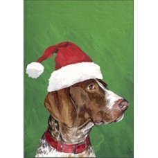 Indoor/Outdoor Christmas Flag (BVV) - German Shorthaired Pointer