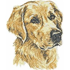 Embroidered Golden Retriever AED14482