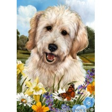 Indoor/Outdoor Flag - White Goldendoodle (TB)