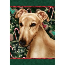 Indoor/Outdoor Flag - Fawn Greyhound (TB)