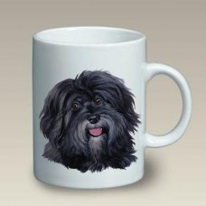 Ceramic Mug (LP) - Black Havanese