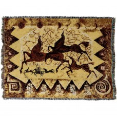 Woven Throw - Oglalas Story Petroglyph