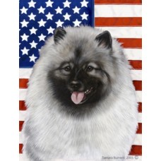 Indoor/Outdoor Flag - Keeshond (TB)