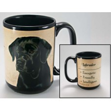 15 oz. Faithful Friends Mug - Black Labrador Retriever