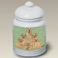 Ceramic Treat Jar (PS) - Yellow Labrador Retriever 52029