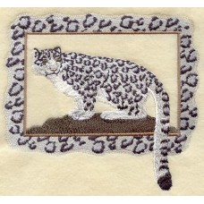 Embroidered Snow Leopard A4506