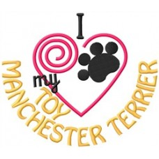 Embroidered Toy Manchester Terrier 1416R