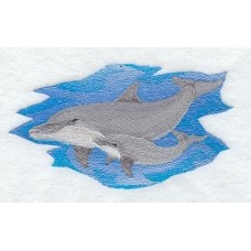 Embroidered Dolphin and Baby M2271