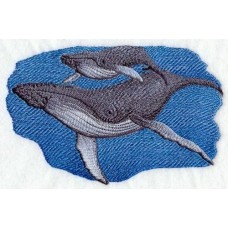 Embroidered Humpback Whale and Baby C3916