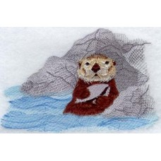 Embroidered Baby Sea Otter M1322