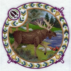 Embroidered Moose Shield H4352