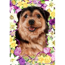Indoor/Outdoor Easter Flag - Norfolk Terrier (TB)
