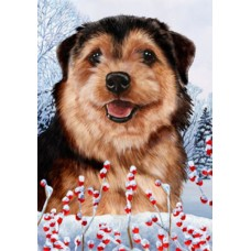 Indoor/Outdoor Winter Flag - Norfolk Terrier (TB)
