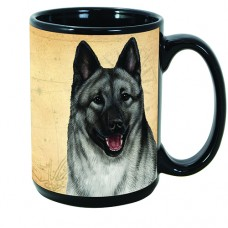 15 oz. Faithful Friends Mug - Norwegian Elkhound