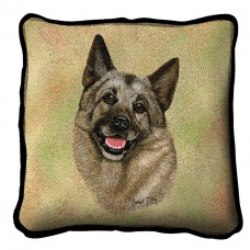 Woven Pillow - Norwegian Elkhound