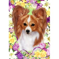 Indoor/Outdoor Easter Flag - Papillon, Red & White (TB)