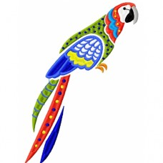 Embroidered Pretty Parrots PE01