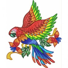 Embroidered Stunning Parrots PE02