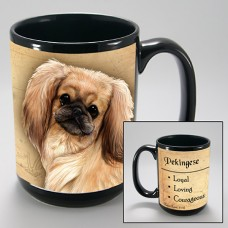 15 oz. Faithful Friends Mug - Pekingese