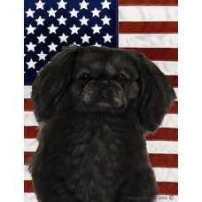 Indoor/Outdoor Flag - Pekingese, Black (TB)