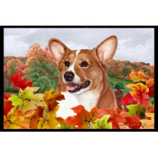 Fall Floor Mat - Sable Pembroke Welsh Corgi