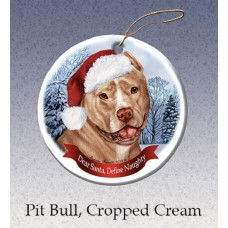 Porcelain Ornament - Cream Pit Bull Terrier