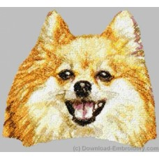 Embroidered Pomeranian DLE2507