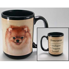 15 oz. Faithful Friends Mug - Orange Pomeranian