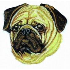 Embroidered Pug BT2394