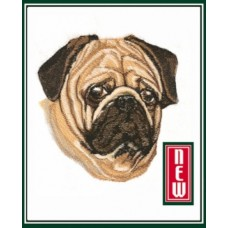 Embroidered Pug BT7075