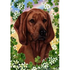 Indoor/Outdoor Flag - Redbone Coonhound (TB)