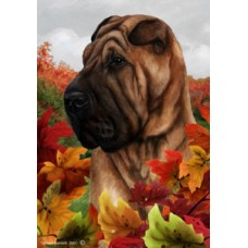 Indoor/Outdoor Fall Flag - Shar Pei (TB)