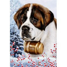Indoor/Outdoor Flag - Saint Bernard (TB)