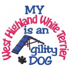 My West Highland White Terrier is an Agility Dog