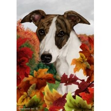Indoor/Outdoor Fall Flag - Whippet (TB)