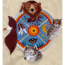 Embroidered Animal Shield I F8638