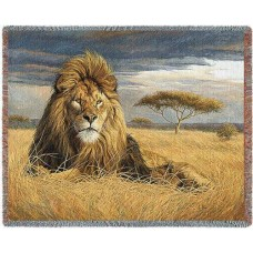 Woven Throw - King of the Pride (Lion)