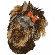 Embroidered Yorkshire Terrier Yorkie AED14888