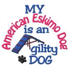 My American Eskimo Dog is an Agility Dog