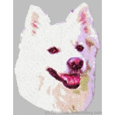 Embroidered American Eskimo DLE1464