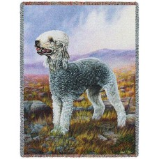 Woven Throw - Bedlington Terrier