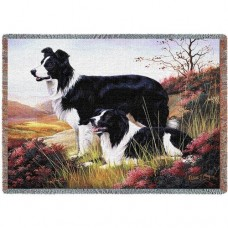 Woven Throw - Border Collie Pair