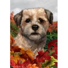Indoor/Outdoor Fall Flag - Border Terrier (TB)