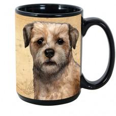 15 oz. Faithful Friends Mug - Border Terrier